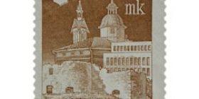 Kajaani 300 vuotta ruskeanpunainen postimerkki 20 markka