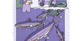 Kalastus - Kalojen istutus  postimerkki 2