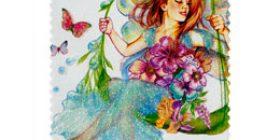 Keijuja - Perhos-teema  postimerkki 1 luokka