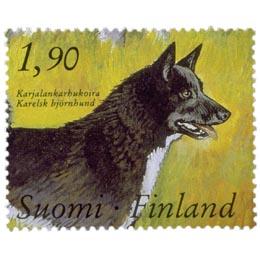Kenneltoiminta 100 vuotta - Karjalankarhukoira  postimerkki 1