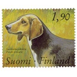 Kenneltoiminta 100 vuotta - Suomenajokoira  postimerkki 1
