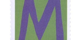 Kirjaimet - M  postimerkki 1 markka