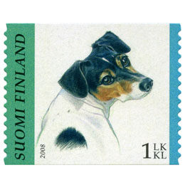 Koiria - Jackrusselinterrieri  postimerkki 1 luokka