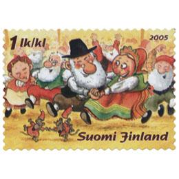 Korvatunturin juhlat  postimerkki 1 luokka