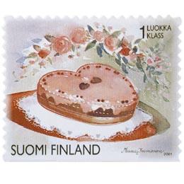 Kukkia - Kakku  postimerkki 1 luokka