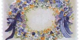 Kukkia - Seppele  postimerkki 1 luokka