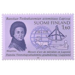 Lapin astemittausretkikunta 1736-1737  postimerkki 1