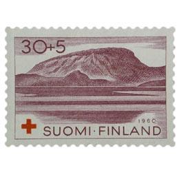 Lappi - Saana-tunturi violetinpunainen postimerkki 30 markka