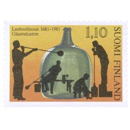 Lasiteollisuus 300 vuotta  postimerkki 1