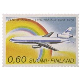 Lentoliikenne 50 vuotta  postimerkki 0