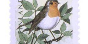 Linnut - Punarinta  postimerkki 0