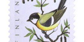 Lintuja - Talitiainen  postimerkki 0