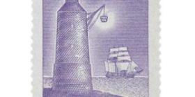 Luotsilaitos 250 vuotta violetti postimerkki 8 markka