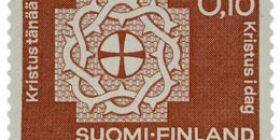 Luterilainen Maailmanliitto ruskeanpunainen postimerkki 0