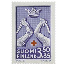 Maakuntien vaakunoita - Karjala sininen postimerkki 3