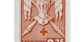 Maakuntien vaakunoita - Varsinais-Suomi karmiini postimerkki 2