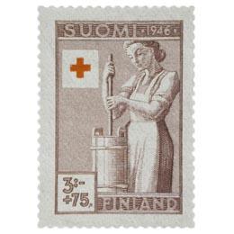 Maatalous ruskea postimerkki 3 markka