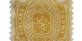 Malli 1885 oranssi postimerkki 0
