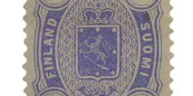 Malli 1885 sininen postimerkki 0