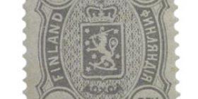 Malli 1889 harmaa postimerkki 0