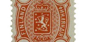 Malli 1889 punainen postimerkki 0