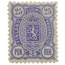 Malli 1889 sininen postimerkki 0