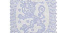 Malli 1917 Saarinen sininen postimerkki 0
