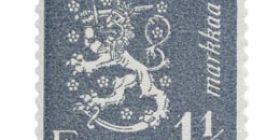 Malli 1930 Leijona harmaa postimerkki 1