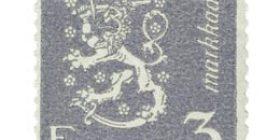 Malli 1930 Leijona harmaa postimerkki 3 markka