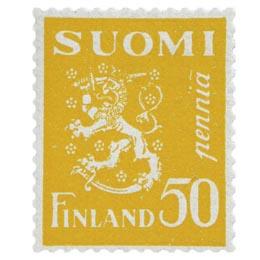 Malli 1930 Leijona keltainen postimerkki 0