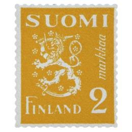 Malli 1930 Leijona keltainen postimerkki 2 markka