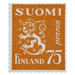 Malli 1930 Leijona oranssi postimerkki 0