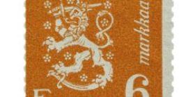 Malli 1930 Leijona oranssi postimerkki 6 markka