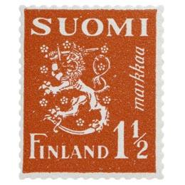 Malli 1930 Leijona punainen postimerkki 1