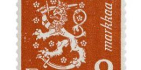 Malli 1930 Leijona punainen postimerkki 2 markka