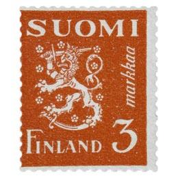 Malli 1930 Leijona punainen postimerkki 3 markka