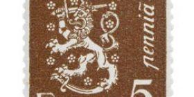 Malli 1930 Leijona ruskea postimerkki 0