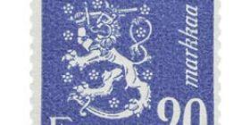 Malli 1930 Leijona sininen postimerkki 20 markka