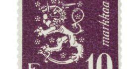 Malli 1930 Leijona violetti postimerkki 10 markka