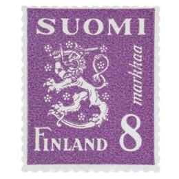 Malli 1930 Leijona violetti postimerkki 8 markka