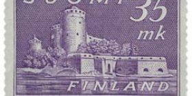 Malli 1930 Olavinlinna violetti postimerkki 35 markka