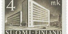 Malli 1930 Postitalo ruskea postimerkki 4 markka