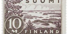 Malli 1930 Saimaa lila postimerkki 10 markka