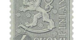 Malli 1954 Leijona harmaa postimerkki 4 markka