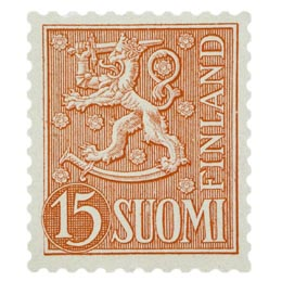 Malli 1954 Leijona punainen postimerkki 15 markka