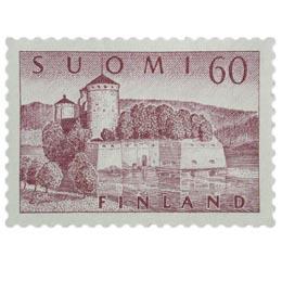 Malli 1954 Olavinlinna harmaanlila postimerkki 60 markka