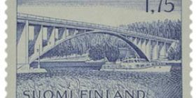 Malli 1963 Hessundin silta sininen postimerkki 1