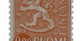 Malli 1963 Leijona karmiini postimerkki 0