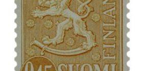 Malli 1963 Leijona keltainen postimerkki 0