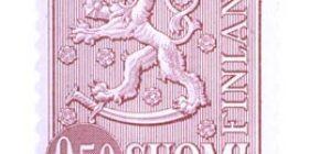 Malli 1963 Leijona lila postimerkki 0